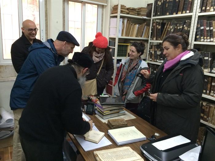 MRel students at the Catholic Salvatorian Monastery and Manuscript Library in South Lebanon. (Photo: Ashley al-Saliby)