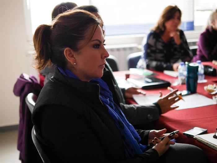 Joy in class during the January residency in Beirut, Lebanon. (Photo: ABTS Staff)
