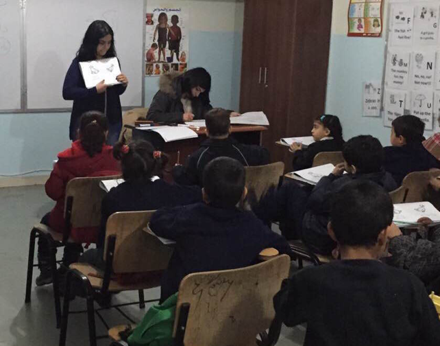 The SKILD team spent a Saturday assessing Syrian refugee children at the alternative education project in East Lebanon. (Photo: Hiba al-Jamal)