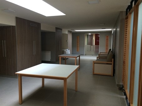 The common area inside the academy, where only finishing touches are required! (Photo: Ashley al-Saliby)